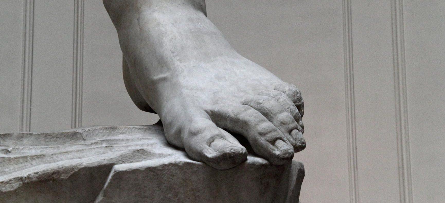 The foot of Michelangelo's David
